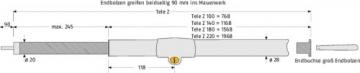 ABUS Fenstersicherung Tele-Z 100 W weiß, 23367 - 4