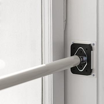 ALLEGRA Sicherungsstange für die Fenstersicherung und Türsicherung, Einbruchschutz für Fenster und Türen (2 x Ankerplatte Weiß, Weiß) - 1