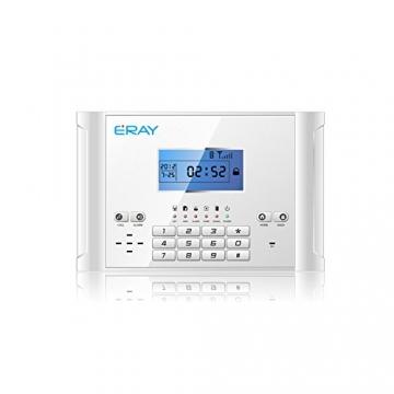 ERAY M2C GSM Funk Alarmanlage mit LCD Display, SMS und Anruf, APP und deutsche Anleitung, Alarmsystem Set mit 1 kabelgebundene Innensirene, 4 Bewegungsmelder und 9 Türkontakten, 2 Fernbedienung und 1 Solar Power Sirene - 2