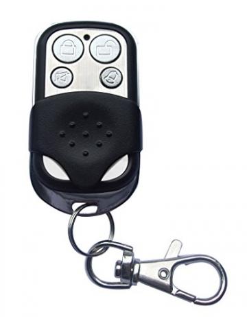 ERAY M2C GSM Funk Alarmanlage mit LCD Display, SMS und Anruf, APP und deutsche Anleitung, Alarmsystem Set mit 1 kabelgebundene Innensirene, 4 Bewegungsmelder und 9 Türkontakten, 2 Fernbedienung und 1 Solar Power Sirene - 5