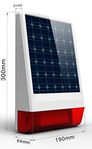 ERAY M2C GSM Funk Alarmanlage mit LCD Display, SMS und Anruf, APP und deutsche Anleitung, Alarmsystem Set mit 1 kabelgebundene Innensirene, 4 Bewegungsmelder und 9 Türkontakten, 2 Fernbedienung und 1 Solar Power Sirene - 6