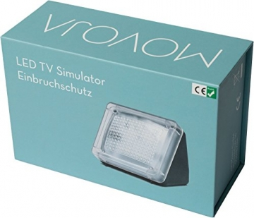 Movoja® Fernsehsimulator | LED-TV-Simulator | Einbruchschutz / Lichtsimulation | Mini-Fake-TV Fake-Fernseher | Fernsehlicht-Imitation | Attrappe gegen Einbrecher mit Lichtsensor und Timer - 3